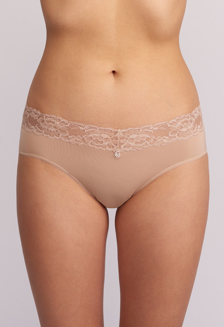 Montelle Microfiber and Lace Low Cut brief 9004