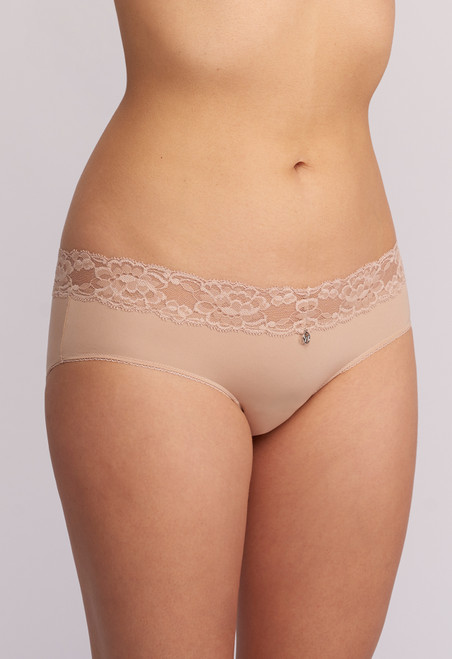9003 Montelle Microfiber and Lace Low Rise Hipster