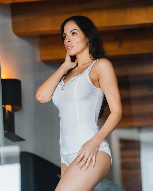 Arianne Stacy Camisole with Appliqué on Neckline 5835
