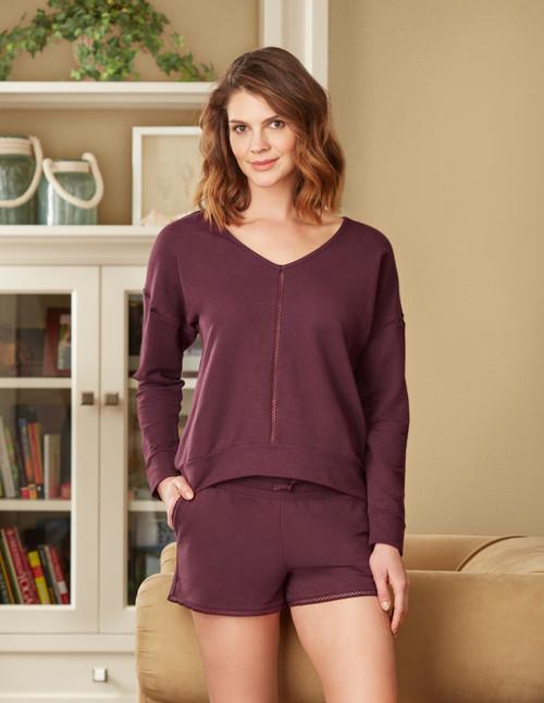 Fleur't Drop Shoulder Cotton Sweater Top 5351