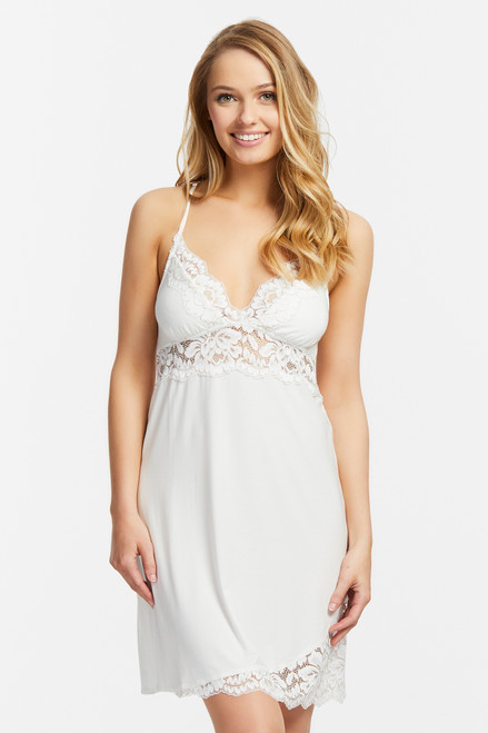 Fleur't Everlasting Bridal Supportive Chemise with Lace Hem 6012