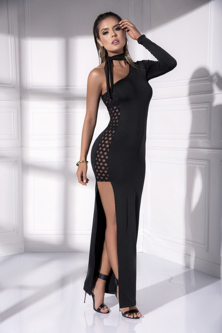 Mapale One Sleeve Long Length Dress 4532