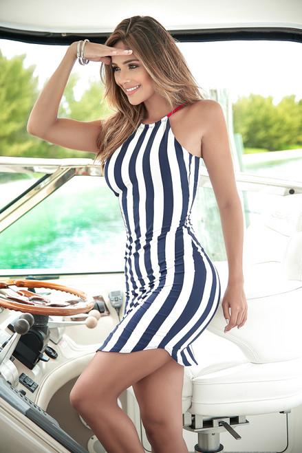 Mapale Stripe Mini Sun Dress 4970