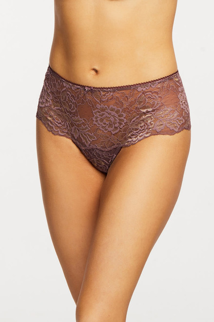 Montelle Sugar'N Spice Lace & Mesh High Waisted Thong 9443