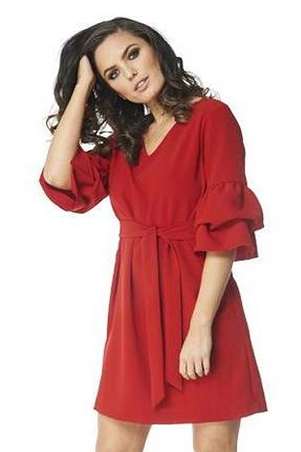 Arianne Caprice 3/4 Sleeve dress with Belt 8419