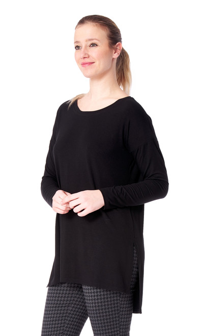 Arianne Long Sleeve Tunic with Side Slit Candace 9617