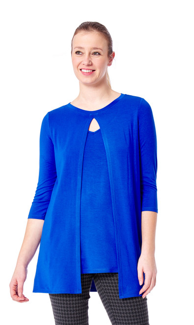 Arianne 3/4 Sleeve Double Layered Soft Tunic Candace 9616