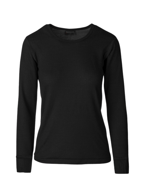 Warm Wear Crew Neck Long Sleeve Two Layer Wool Blend Base Layer 2483