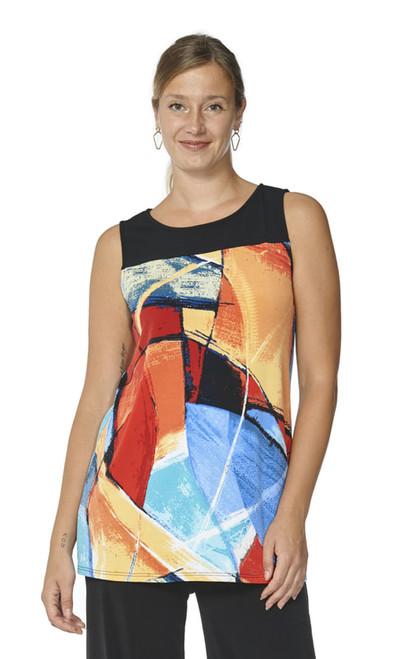 Arianne Multi-Color Sleeveless Round-Neck Tunic Devika 9508