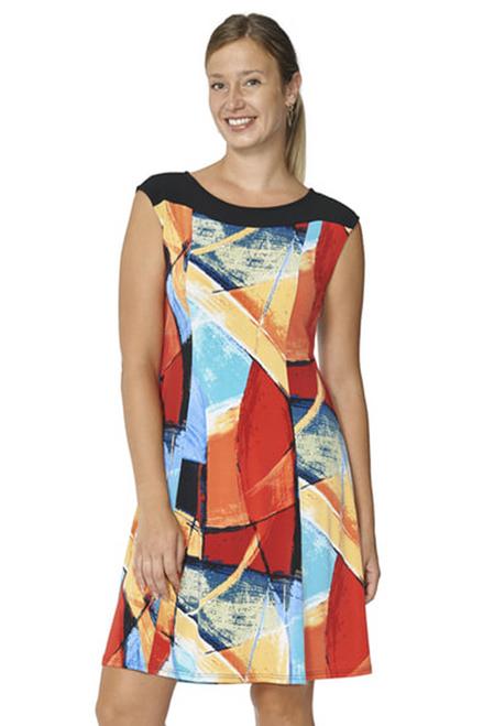 Arianne Multi-Color Sleeveless Round-Neck DressDevika 8508