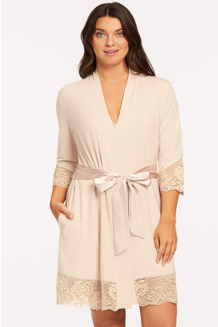 Fleur't Micro & Modal Robe with Lace 6309