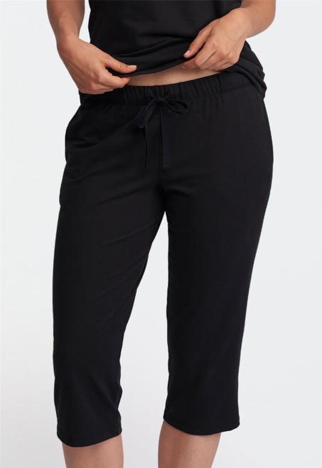 Lusomé  Cotton  Crop Pant with Elastic Waist & Pockets  Serena LS19-250
