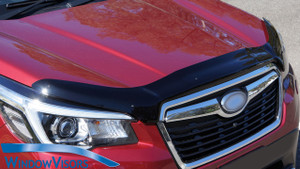 This high quality hood deflector will not only shield your vehicle's front-end from road debris, but also provide aerodynamic, sleek appearance for your ride.