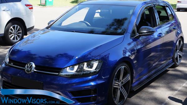 Weathershields - Slim Line Regular Series - Tinted - for Volkswagen Golf Mk7 Mk7.5 Hatch