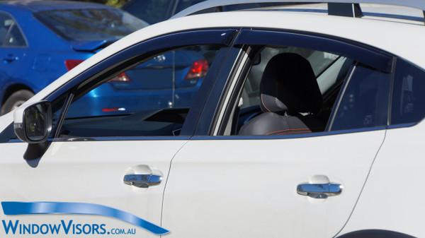 Weathershields - Slim Line Regular Series - Tinted - for Subaru XV GT 2017-Present