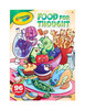 Crayola Food For Thought Coloring and Sticker Book, 96 Pages