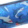 Pen+Gear Shark Design Barrel Pencil Case in Navy with Novelty Zipper Pull and Zip Compartment