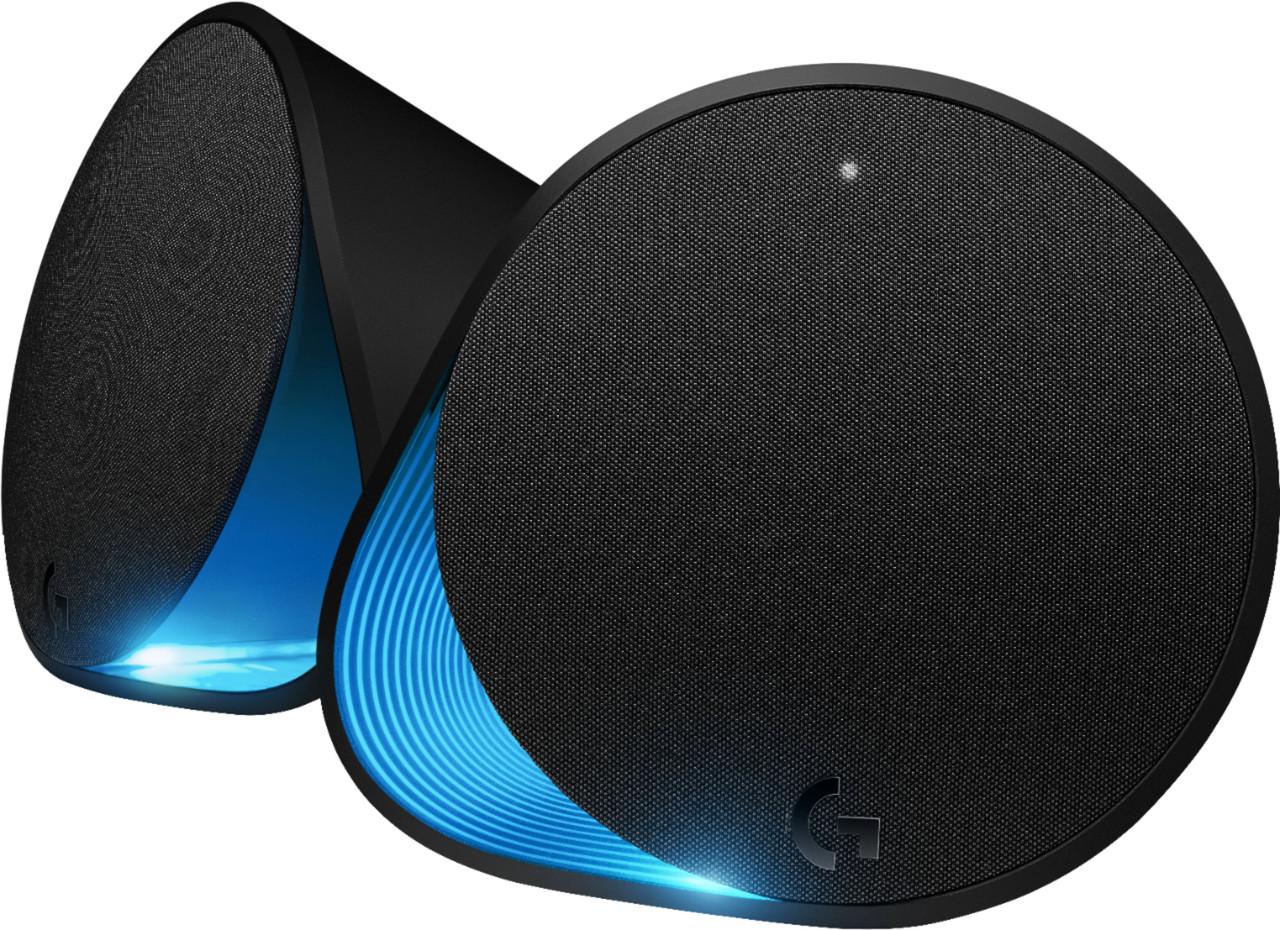 Logitech - G560 LIGHTSYNC 2.1 Bluetooth Gaming Speakers with Game Driven RGB Lighting (3-Piece) - Black