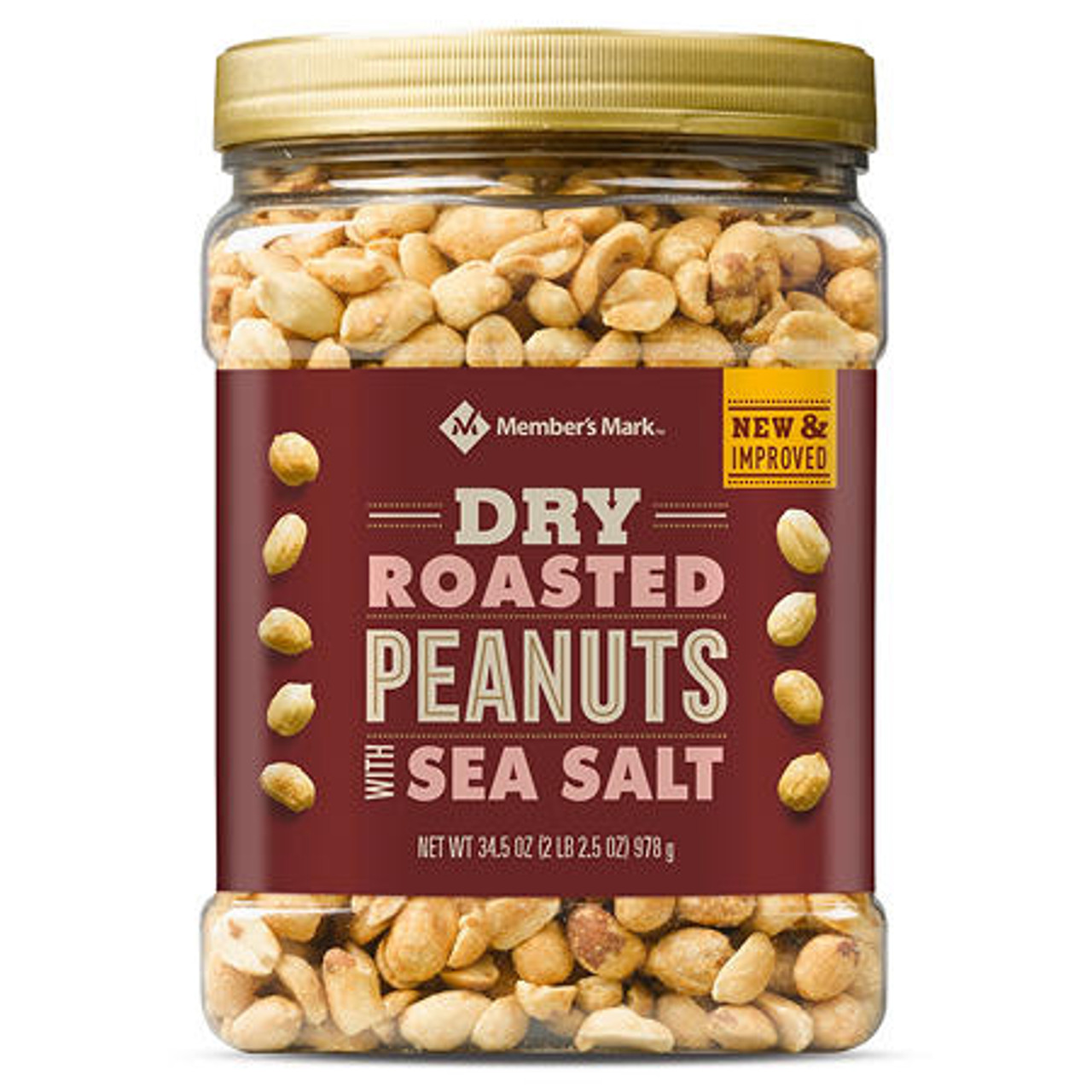 Member's Mark Dry Roasted Peanuts with Sea Salt (34.5 oz.) - *In Store