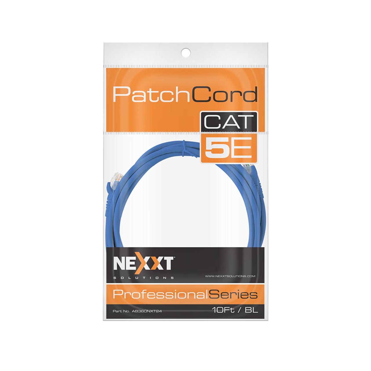NEXXT 10FT UTP PATCH CABLE-CAT5-BLUE