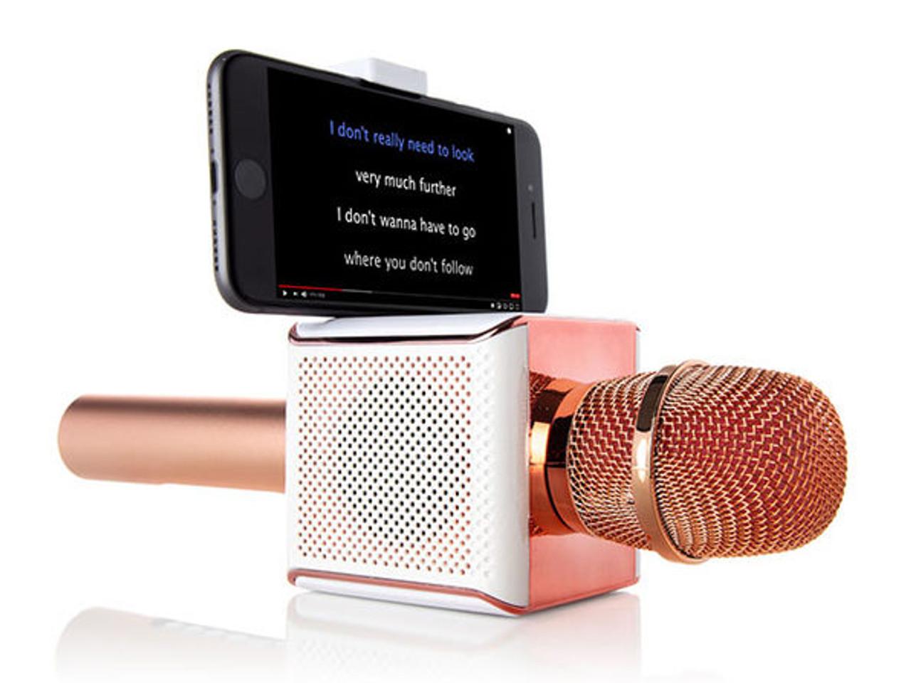 PopSolo™ 5043RG Bluetooth Karaoke Microphone (Rose Gold)