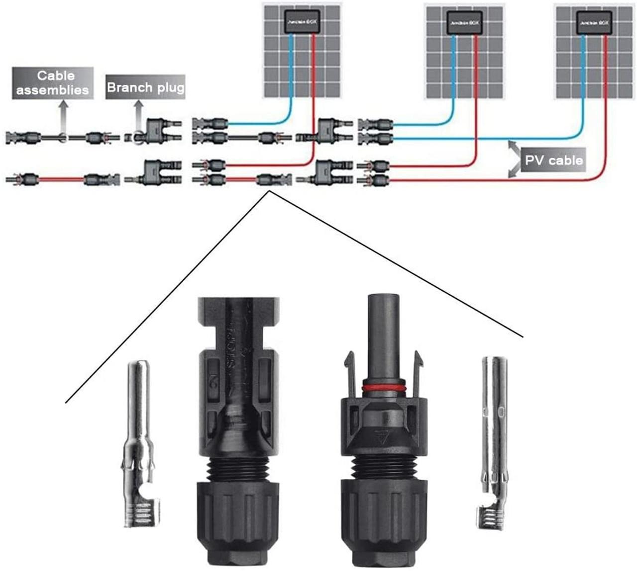 SUN YOBA 20 PAIRS MC4 CONNECTORS