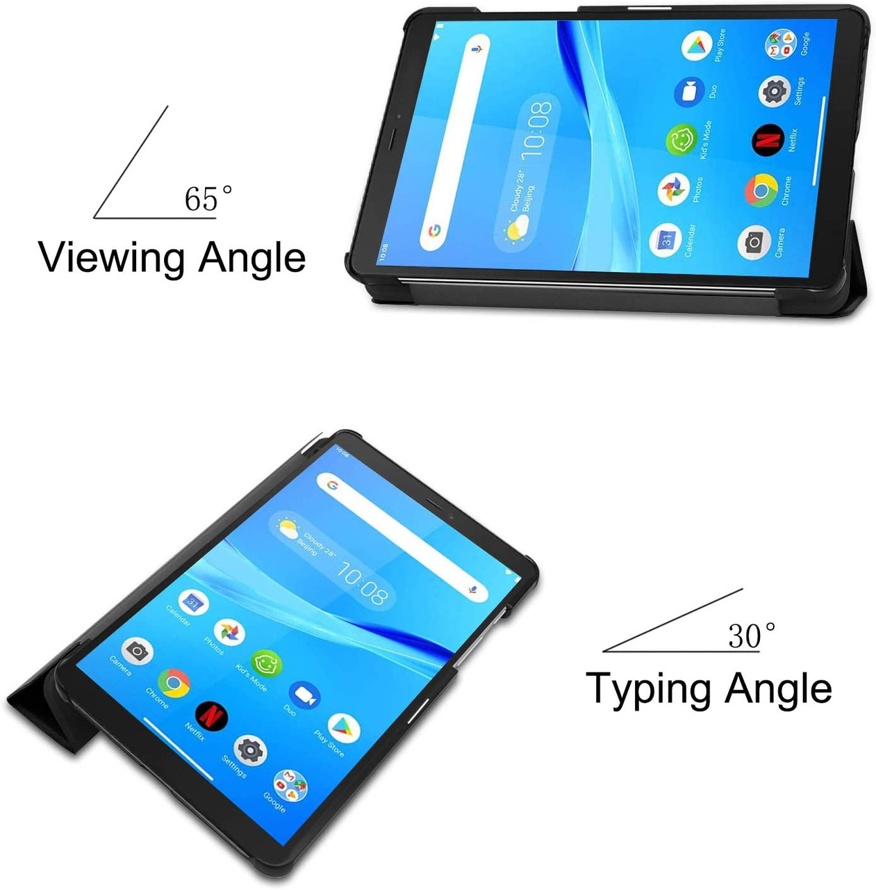 PULEN Case for Lenovo Tab M7/ PU Leather Auto Sleep Wake Function and Multiple Viewing Angles Stand Folio