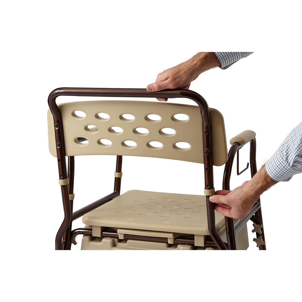 Medline Elements Bedside Commode with Microban - *Special Order