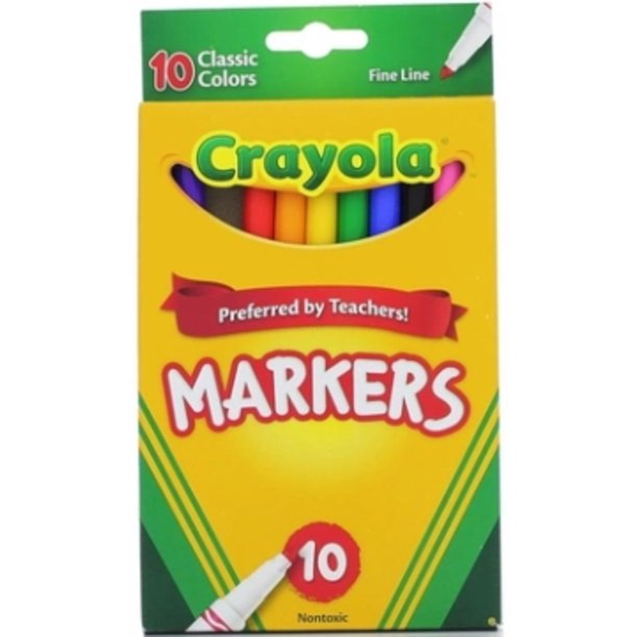 Crayola Classic Thin Line Marker Set, 10-Colors  - *Ships from Miami*