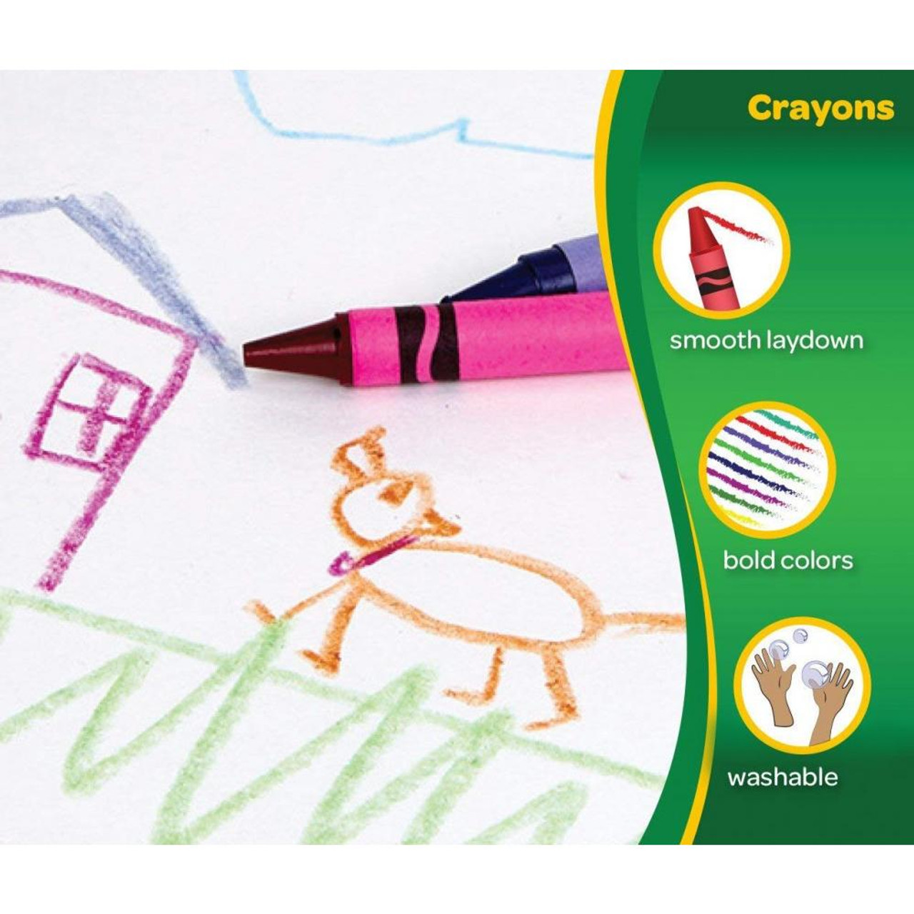 Crayola Classic Crayons Featuring Bluetiful, 24 Count  - *Ships from Miami*