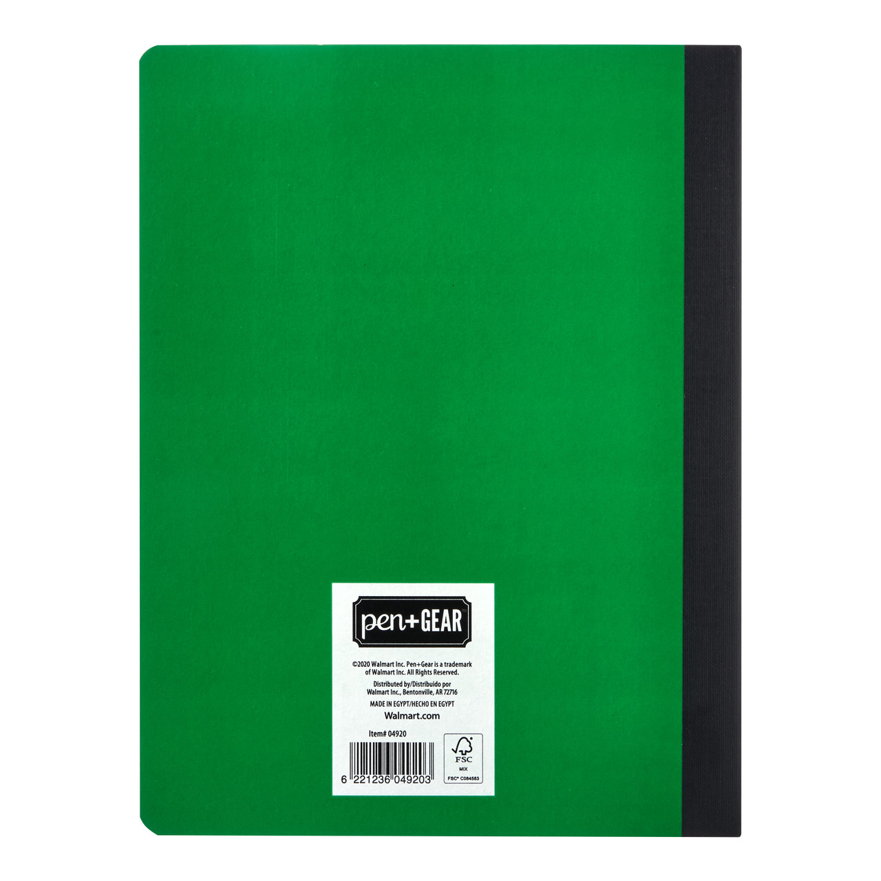 Pen + Gear Composition Book, Wide Ruled, 100 Pages, Green  - *Ships from Miami*