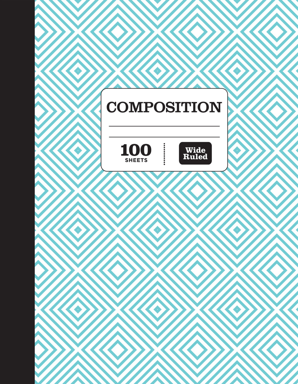 Pen + Gear Fashion Composition Book, Wide Ruled, Assorted Designs, 100 Pages