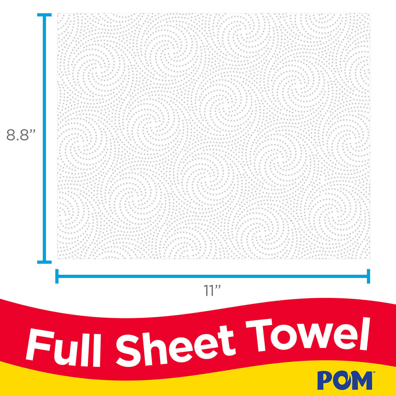 White POM 2-Ply Perforated Paper Towels 110 Sheets//Roll 30 Rolls
