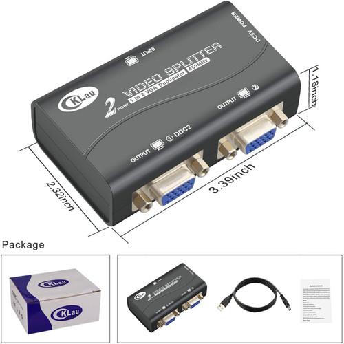 CKLAU 450MHZ B/W 2P VGA SPLITTER