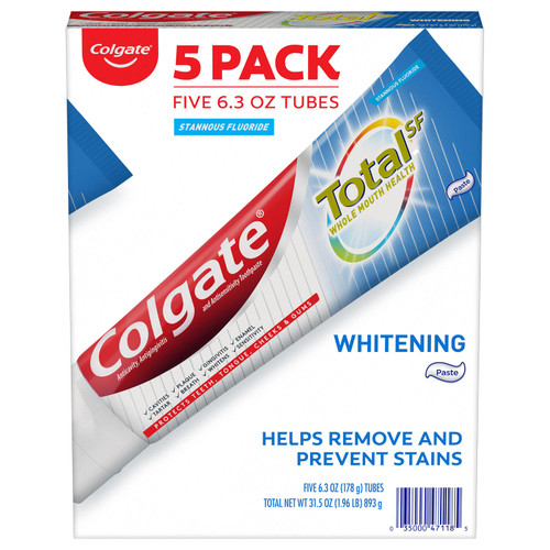 Colgate Total Whitening Toothpaste (6.3 oz., 5 pk.) - *In Store