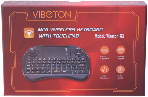 C-Zone 2.4ghz Newest Viboton-x3 Mini QWERTY Wireless Keyboard +Air Mouse Handheld Remote Controller with Touchpad for Tv Box