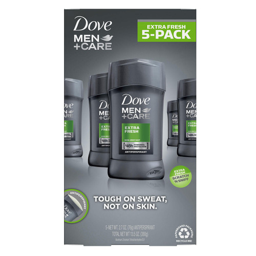 Dove Men + Care Deodorant, Extra Fresh (2.7 oz., 5 pk.) - *In Store