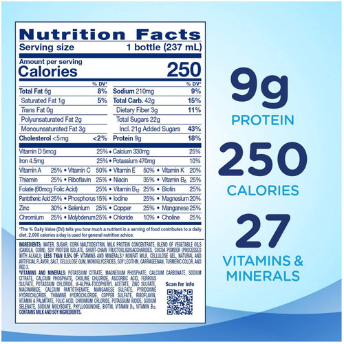 Ensure Original Nutrition Milk Chocolate Meal Replacement Shake with 9g of Protien (8oz /  1ct)