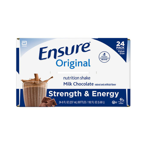 Ensure Original Nutrition Milk Chocolate Meal Replacement Shakes with 9g of Protein (8 fl. oz., 24 ct.) - *In Store