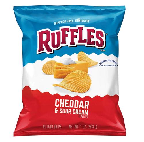 Ruffles Cheddar & Sour Cream Potato Chips (1oz / 50ct)