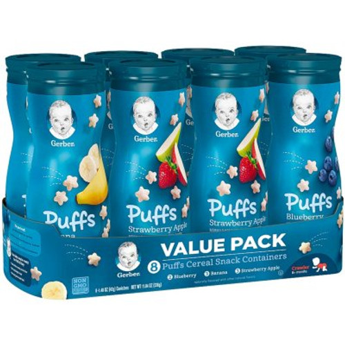 GERBER PUFF CEREAL VARIETY SNACKS