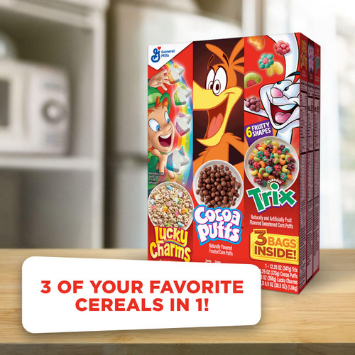 Lucky Charms, Trix and Cocoa Puffs Cereal Triple Pack (3 pk.) - *In Store
