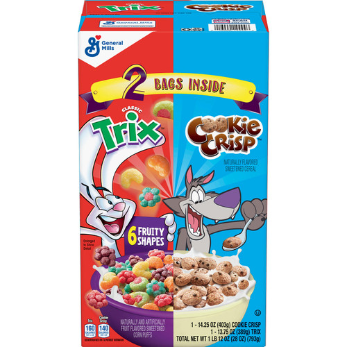 Trix & Cookie Crisp Cereal Variety Pack (28 oz.) - *In Store