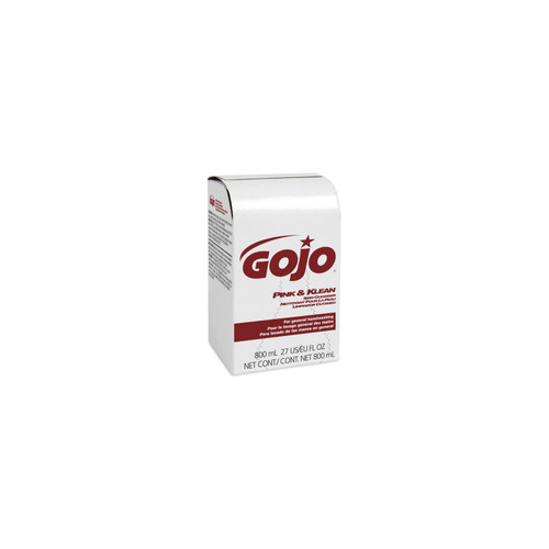 GOJO Pink & Klean Skin Cleanser Industrial Hand Soap Refill/ Floral Scent/ 800mL Refill for GOJO 800 Series Bag-in-Box Dispense- 9128-12