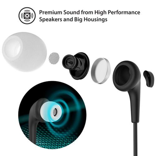 iLuv Bubble Gum 3 In - Earphones with mic - in-ear (Black)