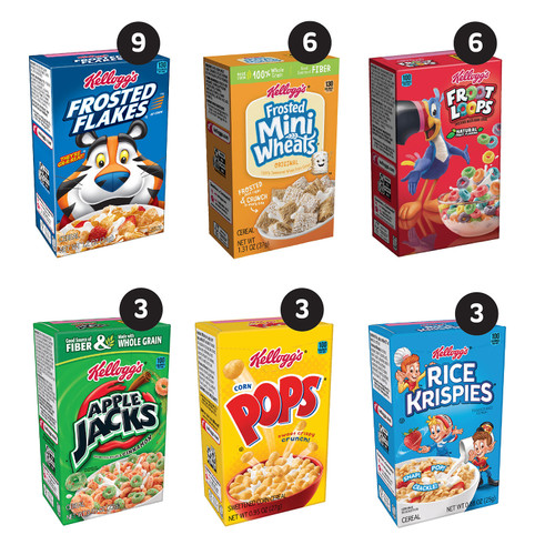 Kellogg's Jumbo Assortment Pack (32.7 oz., 30 pk.) - *In Store