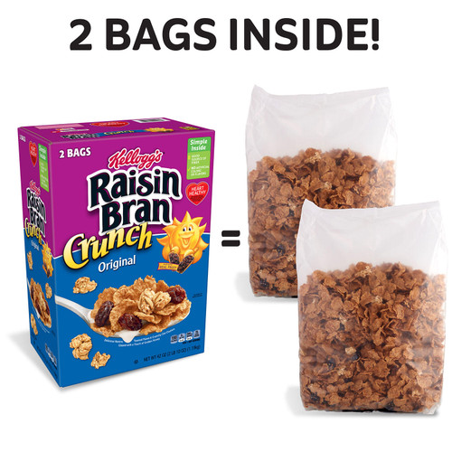 Kellogg's Original Raisin Bran Crunch Breakfast Cereal (42 oz.) - *In Store