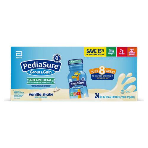 PediaSure Grow and Gain Nutrition Shake for Kids, Vanilla (8 fl. oz., 24 pk.) - *In Store