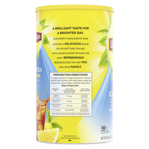 Lipton Lemon Iced Tea with Sugar Mix (89.8 oz.) - *In Store