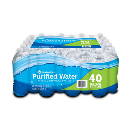 Member's Mark Purified Water (16.9oz / 40pk) - *In Store